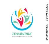 social media   vector logo... | Shutterstock .eps vector #1199563237