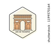 arc de triomphe outline icon... | Shutterstock .eps vector #1199570164