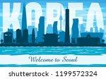 seoul korea city skyline vector ... | Shutterstock .eps vector #1199572324