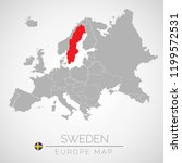 map of european union with the ... | Shutterstock .eps vector #1199572531