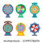 set of isolated wheels of... | Shutterstock .eps vector #1199578654