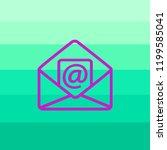 vector e mail icon | Shutterstock .eps vector #1199585041