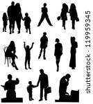 collection of silhouettes of... | Shutterstock .eps vector #119959345