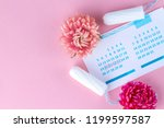 tampons for menstruation  women'... | Shutterstock . vector #1199597587