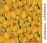 a lot of pumpkins ornaments for ... | Shutterstock .eps vector #1199599624