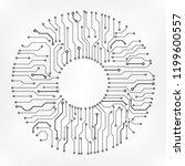 circuit board technology... | Shutterstock .eps vector #1199600557