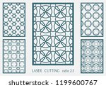 laser cut ornamental panel ... | Shutterstock .eps vector #1199600767
