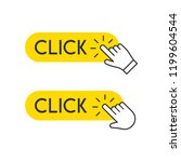 click button with hand pointer... | Shutterstock .eps vector #1199604544