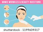 women's anti aging skin care.... | Shutterstock .eps vector #1199609317