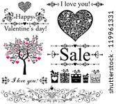 happy valentine day decor....   Shutterstock .eps vector #119961331