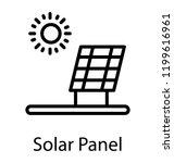 renewable energy from solar... | Shutterstock .eps vector #1199616961