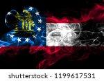georgia colorful smoking flag...   Shutterstock . vector #1199617531