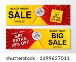 black friday sale banner.... | Shutterstock . vector #1199627011