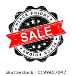 black friday grunge stamp. | Shutterstock . vector #1199627047