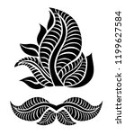 vector set of floral  leafs... | Shutterstock .eps vector #1199627584