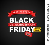black friday sale banner.vector ... | Shutterstock .eps vector #1199628721