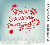 merry christmas and happy new... | Shutterstock .eps vector #1199629771