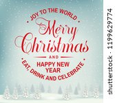 joy to the world. merry... | Shutterstock .eps vector #1199629774