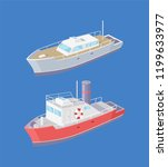 steamboat and yacht marine...   Shutterstock .eps vector #1199633977