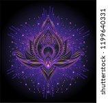 vector ornamental lotus flower  ... | Shutterstock .eps vector #1199640331
