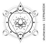 vector ornamental lotus flower  ... | Shutterstock .eps vector #1199640334