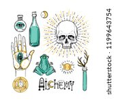 alchemy symbol icon set.... | Shutterstock .eps vector #1199643754