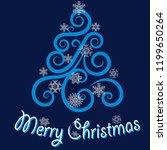 vector elegant merry christmas...   Shutterstock .eps vector #1199650264