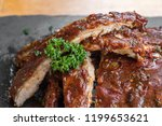 grilled barbecued pork baby... | Shutterstock . vector #1199653621