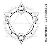 moon frame. sacred geometry.... | Shutterstock .eps vector #1199656801