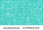 the cutest doodle medicine icon ... | Shutterstock .eps vector #1199665141