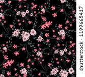 small floral seamless pattern... | Shutterstock .eps vector #1199665417