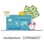 credit card purchase and... | Shutterstock .eps vector #1199666017