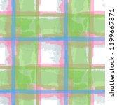 plaid. seamless grunge... | Shutterstock .eps vector #1199667871
