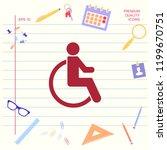 wheelchair handicap icon   Shutterstock .eps vector #1199670751