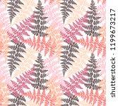 fern frond herbs  tropical... | Shutterstock .eps vector #1199673217