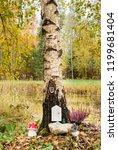 fairy tree house in birch tree... | Shutterstock . vector #1199681404