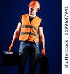 handyman  repairman on... | Shutterstock . vector #1199687941