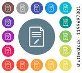 edit document flat white icons... | Shutterstock .eps vector #1199697301