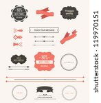 collection of  labels and... | Shutterstock .eps vector #119970151