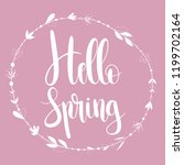 hello spring card with... | Shutterstock .eps vector #1199702164