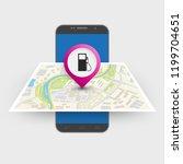 city map route navigation... | Shutterstock .eps vector #1199704651