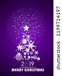 christmas and new year 2019... | Shutterstock .eps vector #1199714197