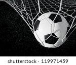 soccer ball in goal  black and...   Shutterstock . vector #119971459