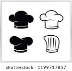 Set Chef Hat Logo. Cheaf  Hat...