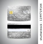 vector detailed credit cards... | Shutterstock .eps vector #1199719144