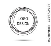 logo design. vector hand drawn... | Shutterstock .eps vector #1199719174