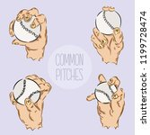 the most common pitches in... | Shutterstock .eps vector #1199728474