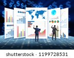 concept of business charts and... | Shutterstock . vector #1199728531
