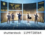 concept of business charts and... | Shutterstock . vector #1199728564