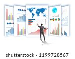 concept of business charts and... | Shutterstock . vector #1199728567